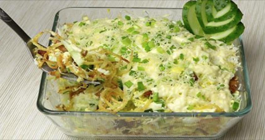 Салат с копченой курицей и картофелем пай « Рецепты салатов